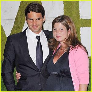 Роджер Федерер и его жена Мирка