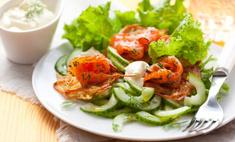 Рецепты летних салатов со свежими огурцами