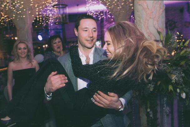 Илья Ковальчук со своей супругой Николь