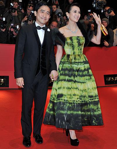 Тони Люн и Чжан Цзыи на открытии Берлинского кинофестиваля-2012