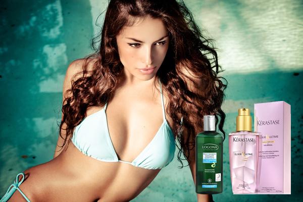 Защита волос от морской соли и хлора