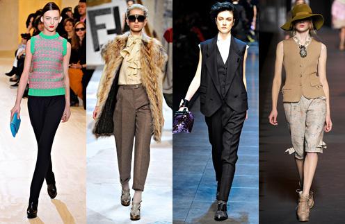 Этой осенью стоит обратить внимание на жилеты из коллекций Jil Sander, Fendi, Dolce & Gabbana и Christian Dior