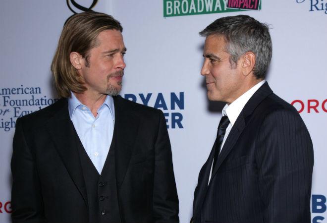 Брэд Питт и Джордж Клуни фото