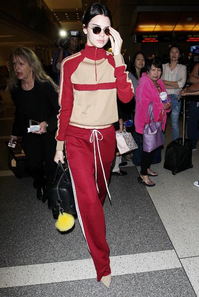 Кендалл Дженнер в аэропорту Лос-Анджелеса