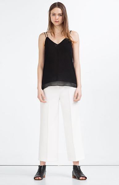 Топ, брюки Zara, фото