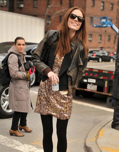 Коко Роша (Coco Rocha) на Неделе моды в Нью-Йорке