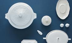 Модная посуда: фарфор без росписи