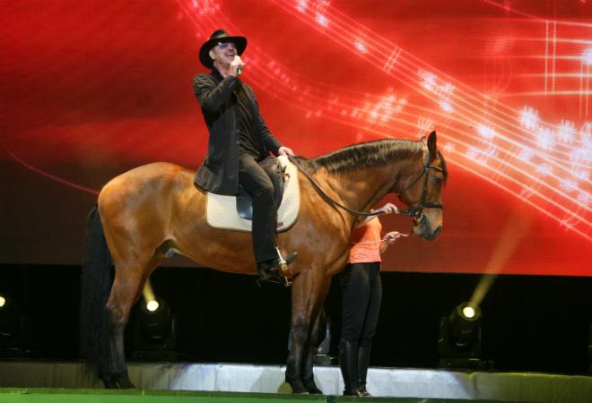 Михаил Боярский на коне фото