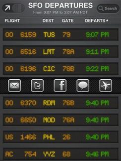 Мобильное приложение, которое поможет отследить ситуацию в аэропорту.