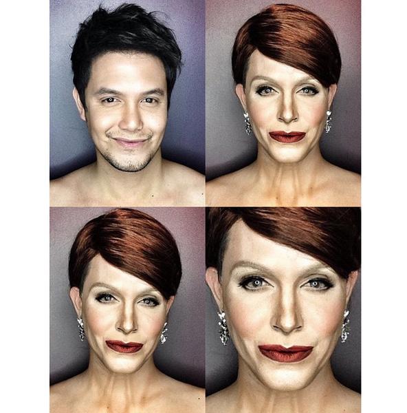 Филиппинский визажист перевоплотился в звезд с помощью макияжа   галерея [1] фото [14]