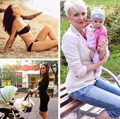5 супермамочек: худеем после родов!