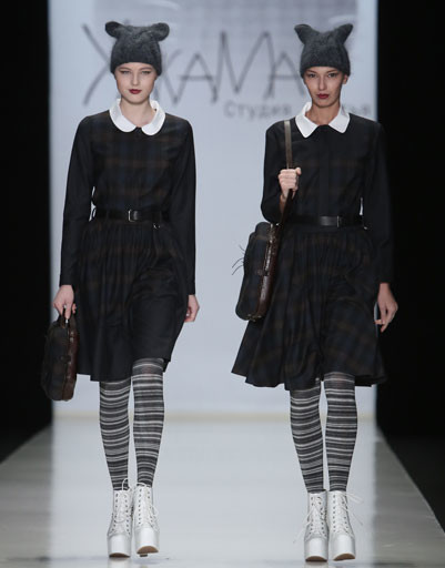 Показ коллекции ХакаМа осень-зима 2013/14 на Mercedes-Benz Fashion Week Russia