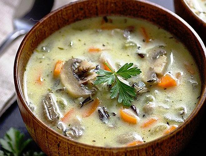 грибной суп из шампиньонов рецепт с фото сливочный
