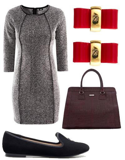 Платье H&M, сумка Mango, серьги Ted Baker, туфли Zara.