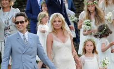 Свадебный образ Кейт Мосс: винтажный шик
