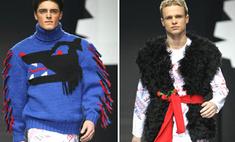 Российский дизайнер нарядил мужчин в колготки