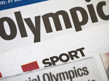 Олимпийский газетный заголовок