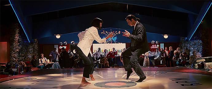 Танец Умы Турман и Джона Траволты в вымышленном ресторане Jack Rabbit Slim's