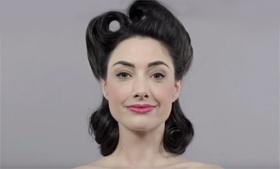 Смотрим: 100 лет эволюции макияжа за одну минуту