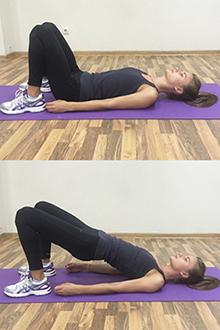Упражнение для укрепления ягодиц, бедер и мышц тазового дна