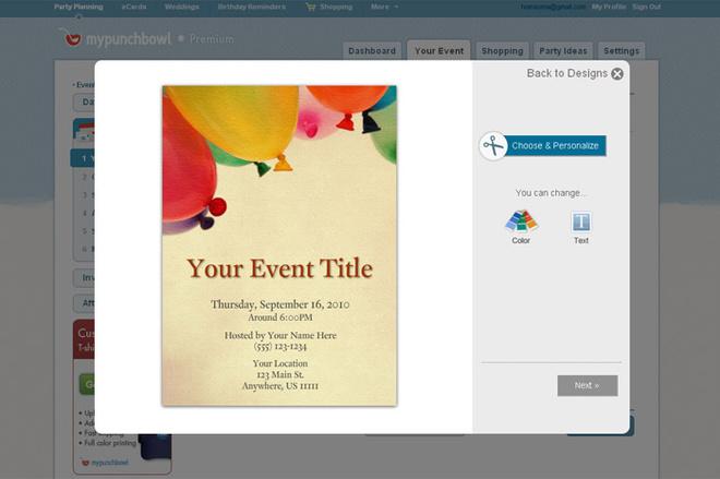 Выберите любой понравившийся вам дизайн приглашения.
