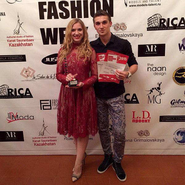 Иван Ванин и Надежда Решетникова - победители Roma Fashion Week-2015