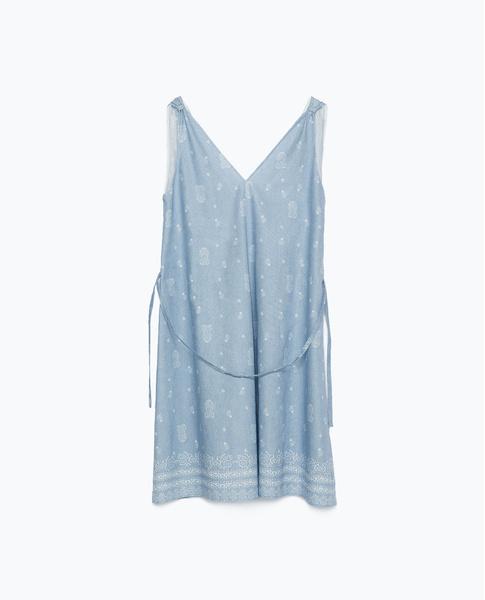 Платье Zara, 1499 рублей (с учетом скидки)