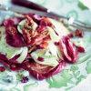 Салат из красного цикория в карамели