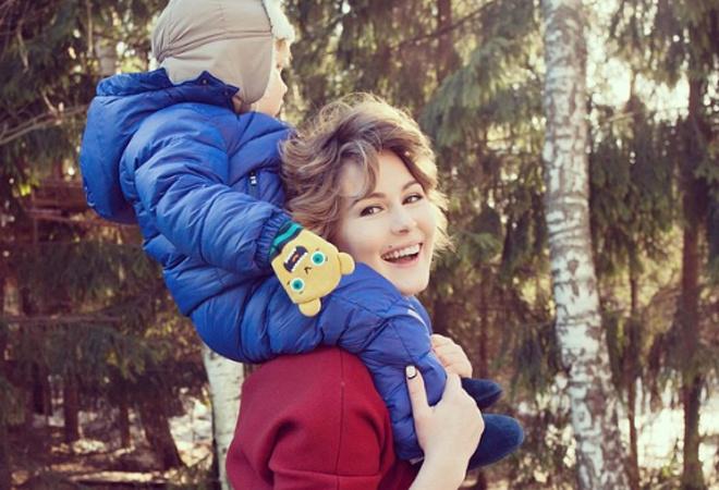 Мария Кожевникова с сыном: фото