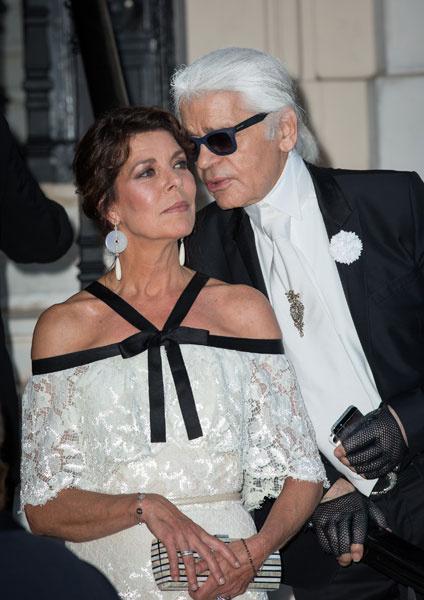 Карл Лагерфельд и принцесса Каролина на Love Ball