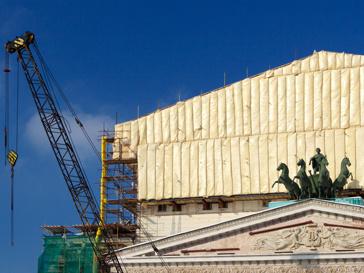 Реконструкция фасада Большого театра