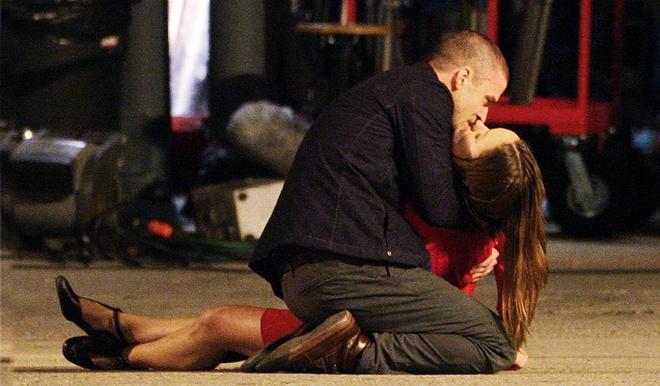 Сцена поцелуя Джастина Тимберлейка и Оливии Уайлд.