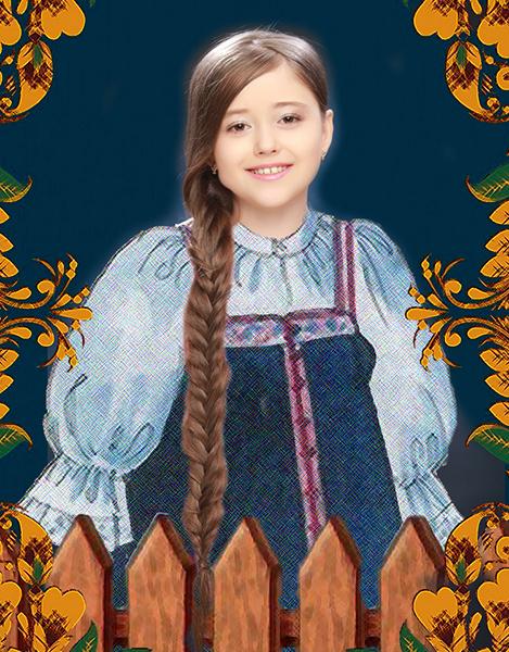 Ариадна Васильева, «Уральская краса – русская коса», фото