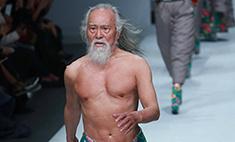 79-летний дедушка-модель вышел на подиум в Китае