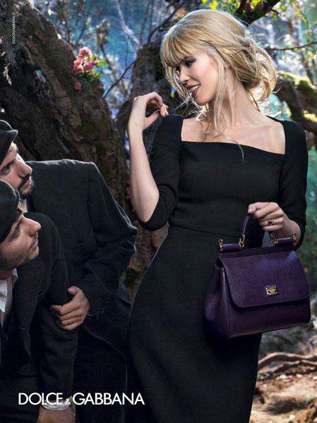 Клаудия Шиффер в рекламной кампании Dolce & Gabbana осень-зима 2014