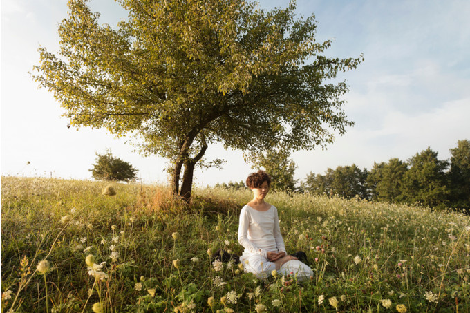 Медитация на траве