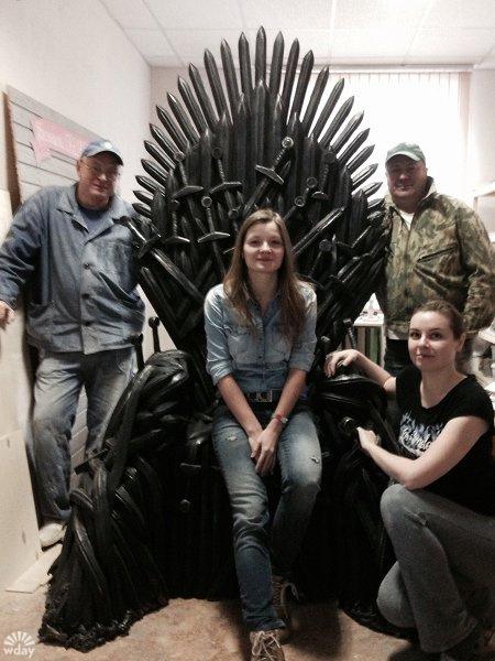 В Кемерово сделали Железный трон из Игры престолов