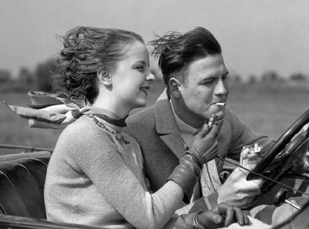Мужчина за рулем, 1930 год