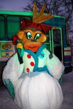 Фотоотчет: флешмоб снеговиков в Оренбурге