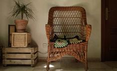 Дачный вариант: плетеная мебель в интерьере