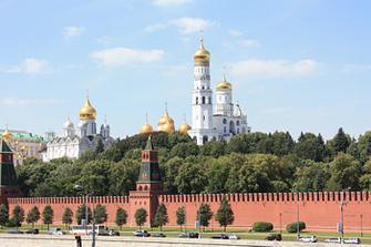 Вид на Кремль, колокольня Ивана Великого