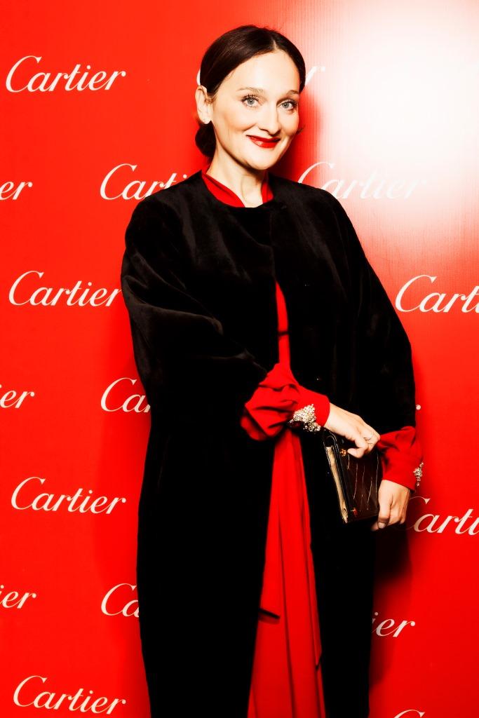 На открытии монобрендового бутика Cartier в Москве (2013).