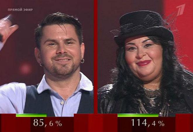Голос полуфинал Интарс Бусулис и Мариам Мерабова фото