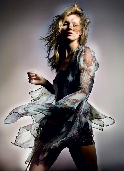Кейт Мосс в рекламной кампании Topshop