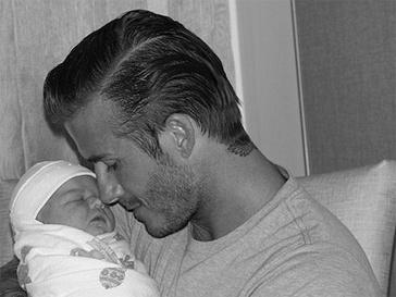 Дэвид Бекхэм (David Beckham) с малышкой Харпер Севен (Harper Seven)