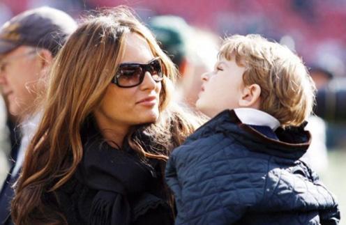 Мелания Трамп с сыном Бароном