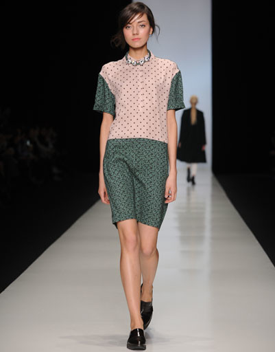 Показ коллекции POUSTOVIT осень-зима 2013/14 Mercedes-Benz Fashion Week Russia
