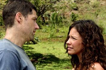 Эви и Мэтью во время съемок