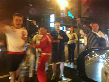 Андрей Разыграев стал свидетелем празднования победы сборной России по хоккею на чемпионате мира