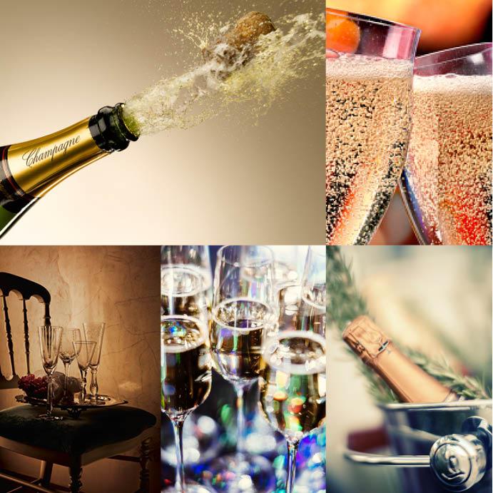 новогоднее шампанское